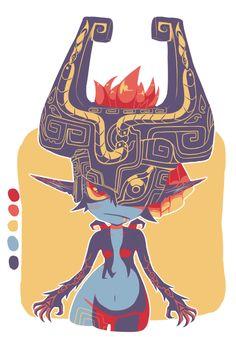 pyokos: it's better like this i think…. midna with for anon Legend Of Zelda Midna, Aliens, Character Art, Character Design, Zelda Twilight Princess, Demon King, Wind Waker, Nintendo, Cool Art