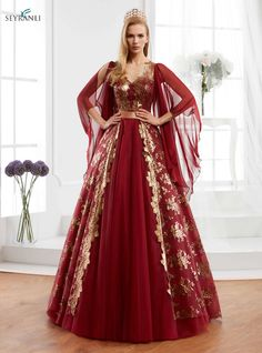 Queen Style Modernized Dark Red Caftan Set is fashionable dress which is red, white and you can buy this caftan or kaftan online. Ball Dresses, Nice Dresses, Ball Gowns, Evening Dresses, Prom Dresses, Formal Dresses, Wedding Dresses, Beautiful Gowns, Beautiful Outfits