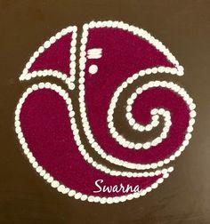 Easy Rangoli Designs Videos, Easy Rangoli Designs Diwali, Indian Rangoli Designs, Simple Rangoli Designs Images, Rangoli Designs Latest, Rangoli Designs Flower, Free Hand Rangoli Design, Rangoli Border Designs, Small Rangoli Design