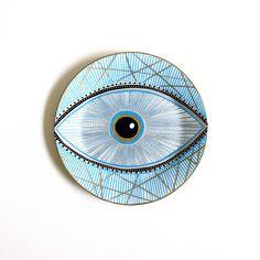 Blue+evil+Eye+Decor++Silver+Evil+Eye+Decor++Evil+Eye+Art+