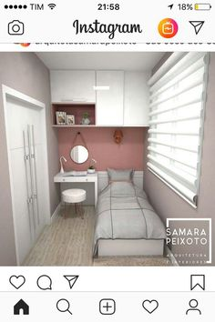 Source by glauxao Very Small Bedroom, Small Room Decor, Small Room Bedroom, Box Room Bedroom Ideas, Bedroom Layouts, Home Decor Bedroom, Tiny Bedroom Design, Small Room Design, Small Bedroom Inspiration