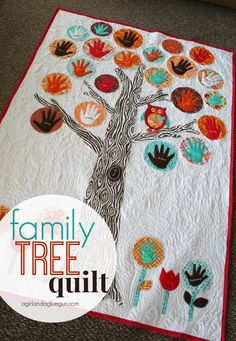 family tree quilt - A girl and a glue gun