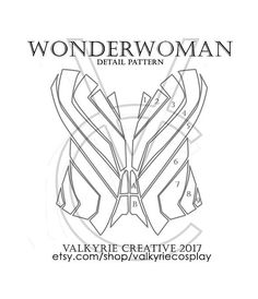 Wonderwoman Corset Detail Printable Pattern