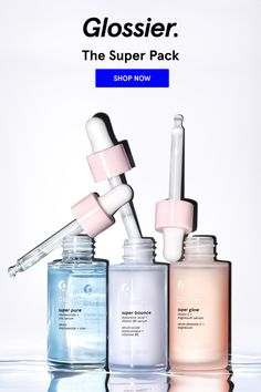 Glossy Makeup, Skin Makeup, Glossier The Supers, Beauty Care, Beauty Skin, Face Beauty, Serum, Super Bounce, Super Glow