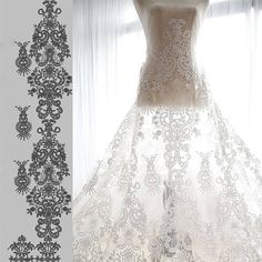 Floral Lace Fabric Wedding Lace Fabric Corded Lace Fabric