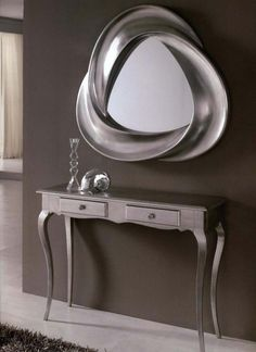 our sophie mirrored console table makes this entryway by. Black Bedroom Furniture Sets. Home Design Ideas