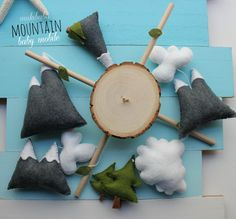 BABY MOBILE  MOUNTAINS woodland baby mobile woods by mukibaba