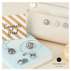 Gifts for the graduate. Choose a ring, pendant or bracelet and then add snaps!