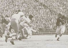 1950 Oregon-USC football game in the Coliseum. From the 1951 Oregana (University of Oregon yearbook). www.CampusAttic.com