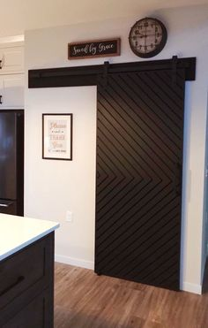 23 Creative and Pretty Door Ideas for your Pantry , The Non-Barn-Door Barn Door. Barn Door Pantry, Diy Barn Door, Diy Door, Bathroom Barn Door, Farm Door, Sliding Door For Bathroom, Modern Sliding Doors, Double Barn Doors, Modern Barn Doors