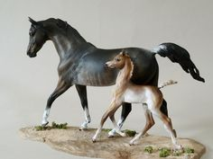 Tuscany Studios Equine Art mare and foal