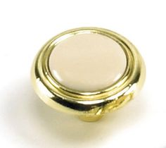 Laurey Cabinet Knobs, 1 1/4 Inches Knob Almond Polished Brass