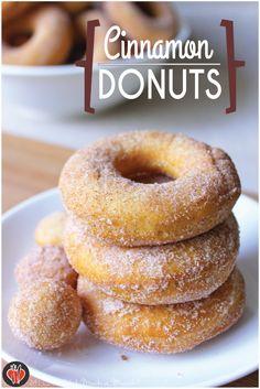 Cinnamon Donuts by MJ Carlos Coffee Dessert, Pie Dessert, Dessert For Dinner, Dessert Recipes, Breakfast Recipes, Delicious Donuts, Delicious Desserts, Yummy Food, Cinnamon Donuts