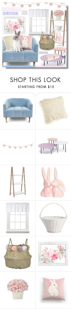 """""""Easter Decor"""" by chocolate-addicted-angel ❤ liked on Polyvore featuring interior, interiors, interior design, home, home decor, interior decorating, Safavieh, Saturday Knight, Pottery Barn and Bloomingville"""
