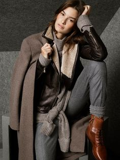 Latest Massimo Dutti Lookbook Winter Dresses 2014-2015