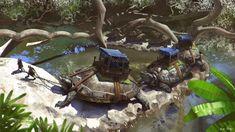 Turtle caravan, Alex Shiga on ArtStation at https://www.artstation.com/artwork/WVbvy