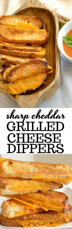 Extra cheesy grilled cheese dipping sticks. #comfortfood #cheesy #grilledcheese #partyfood #sharpcheddar #sponsored