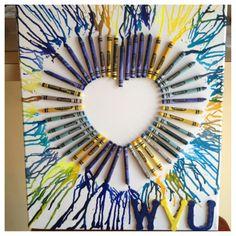Crayon art! WVU! :)