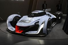 """It's a Le Mans-like race car designed by Hyundai… Wait, what? The N 2025 Vision Gran Turismo is, like its name suggests, drivable only on PlayStation's Gran Turismo 6 video game. While the 871 horsepower hydrogen fuel cell racer did appear in the flesh at Frankfurt, it's not a car we'll ever see beyond the digital world. What it is, however, is a fancy way for Hyundai to announce its new """"N"""" sub brand, bringing more performance-orientated vehicles to real streets in the near future."""