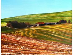 `Valley Barn` by artist: Paula Oakley  - Original Art from West Country Galleries.