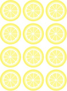 Free printable - round lemon slice tag. Also available in lime and orange.