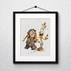 Children's Room Decor – Beauty and the Beast Disney Print Printable poster – a unique product by DigitalAquamarine on DaWanda