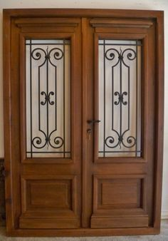 I love simple and pretty front doors. In a couple months when the weather warms up, we are replacing our front door and . Home Fencing, Wrought Iron Doors, Steel Art, Front Door Design, Iron Gates, Home Design Decor, Steel Doors, Entry Doors, Front Doors