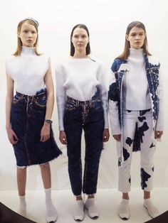#NEWGEN girl @faustinesteinmetz gives us a masterclass in denim with these beautiful brushed and felted pieces for her AW15 collection. We're in love! #LFW #FaustineSteinmetz #Day2 #denim #topshop #topshopsupports #fashionweek #aw15
