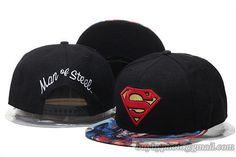 Cheap Wholesale Superman Snapback Hats Adjustable Caps Black 228 for slae at US$8.90 #snapbackhats #snapbacks #hiphop #popular #hiphocap #sportscaps #fashioncaps #baseballcap