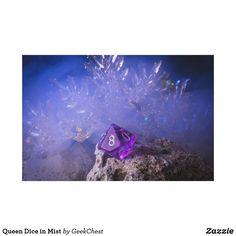 Queen Dice in Mist Canvas Print