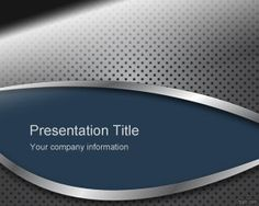 This free Powerpoint design for presentations has a nice metal texture in the PPT background and blue color with gray and perforated metal style: