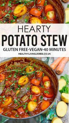 Winter Dinner Recipes, Vegan Dinner Recipes, Vegan Dinners, Veggie Recipes, Cooking Recipes, Healthy Recipes, Potato Recipes For Dinner, Winter Dinner Ideas, Plant Based Dinner Recipes