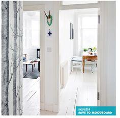 Flur Diele Wohnideen Möbel Dekoration Decoration Living Idea Interiors Home  Corridor Weiße Moderne Halle Mit Kunstwerk