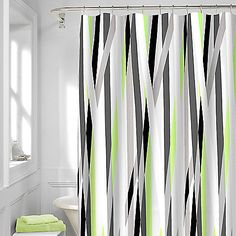 Asian lilly shower curtain