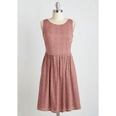 Mid-length Sleeveless A-line Indie Swing of Things Dress ($42) via Polyvore featuring dresses, apparel, fashion dress, red, a line dress, cutout dress, red cutout dress, red dress and no sleeve dress