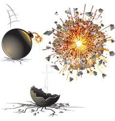 Bomb explosion vector