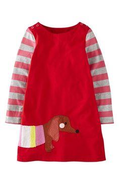 Mini Boden 'Fun' Appliqué Dress (Toddler Girls, Little Girls & Big Girls)… Baby Outfits, Kids Outfits, Toddler Girl Dresses, Little Girl Dresses, Toddler Girls, Baby Girls, Girls Dresses, Moda Kids, Mini Boden