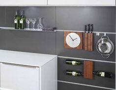 relingset 900 mm linea titan aus edelstahl relingstange k chen relingsystem ebay k che. Black Bedroom Furniture Sets. Home Design Ideas