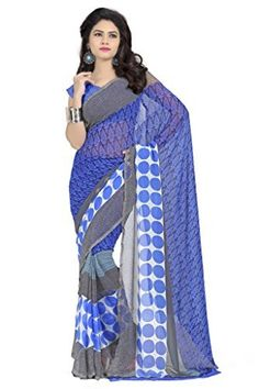 8817f0429 Vaamsi Faux Georgette Saree (Vega3038  Blue)