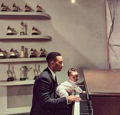 John Legend with his daughter Luna.