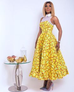 Features: Midi Flare Dress, Long Sleeveless Dress, Ankara Fabric Exact Fabric on Model is NOT available Leave a note with measurements for your hip, bust and waist. Available in all sizes even though not listed Ankara Long Gown Styles, Latest Ankara Styles, Ankara Gowns, Ankara Dress, Ankara Fabric, African Fabric, African Attire, African Wear, African Dress