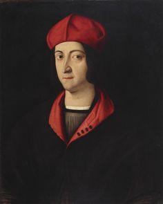 """Bartolomeo Veneto, """"Bildnis des Kardinals Ippolito d'Este"""" um 1510"""