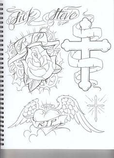 Card Tattoo Designs, Angel Tattoo Designs, Tattoo Design Drawings, Tattoo Sleeve Designs, Tattoo Sketches, Chicano Drawings, Bff Drawings, Cool Stencils, Tattoo Stencils