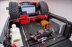 014 2016 Nissan Titan XD Cummins Diesel Bed ARB Freezer ARB Recovery Bag Hi Lift Jack Warn Zeon8 Winch LGE CTS Custom Bed Rack