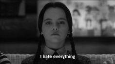 """The Addams Family"" - Christina Ricci as Wednesday Addams Addams Family Members, Die Addams Family, Adams Family, Addams Family Quotes, Addams Family Values, Citations Film, Creepy Kids, I Hate Everything, Wednesday Addams"