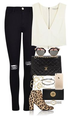 """""""Untitled #3393"""" by lily-tubman ❤ liked on Polyvore featuring Frame Denim, Chanel, Yves Saint Laurent, Alice + Olivia, Christian Dior, Mulberry, Burberry and ASOS"""