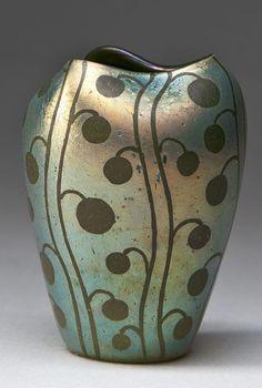 Loetz - Unknown Etched Silberiris DEK - 1902