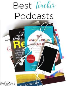 Podcasts: Looking for a little professional development on the go? Check out these top teacher podcasts! I love getting teaching tips, updates in the education world, and new ideas. Podcasts for teachers are a fun way to do just that! First Year Teachers, New Teachers, Kindergarten Teachers, Elementary Teacher, Music Teachers, Elementary Music, Kindergarten Worksheets, Elementary Education, School Teacher