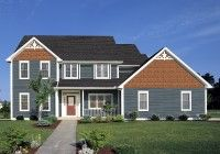 Pacific Blue Siding Terra Cotta Shingles House Paint Exterior House Siding Grey Siding House