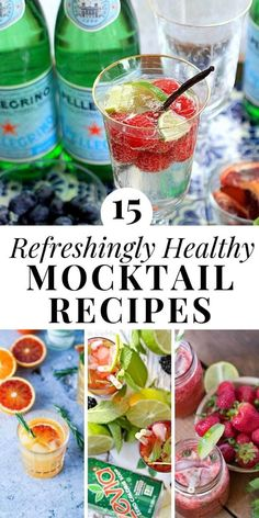 15 Refreshingly Healthy Mocktail Recipes - EA Stewart These Healthy Mocktails will quench your thirst all summer long! Choose from 15 non-alcoholic, low calorie mocktail recipes including festive sparkling drinks, kombucha mules, and more. Non Alcoholic Drinks Healthy, Alcoholic Punch Recipes, Low Calorie Drinks, Healthy Cocktails, Drinks Alcohol Recipes, No Calorie Foods, Low Calorie Lemonade Recipe, Cocktails Rafraîchissants, Best Mocktails